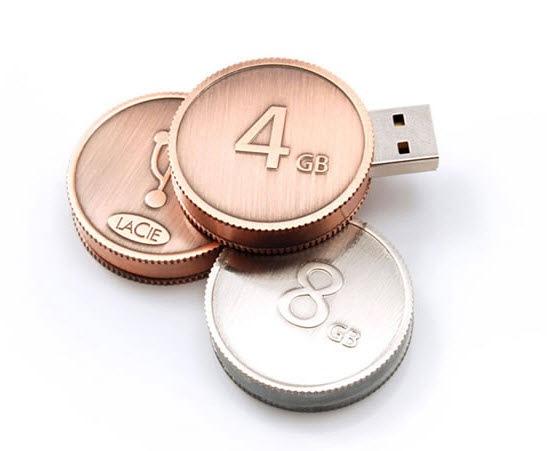 флешки в виде монеток