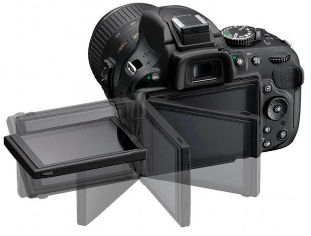 Nikon D5200 swiwel screen