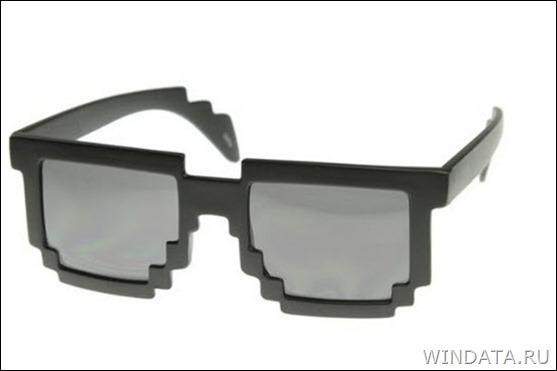 пиксельные 8-битные очки
